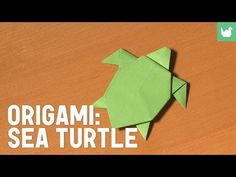Easy step-by-step instructions on how to fold this cool looking Origami Sea Turtle. Select from many more Origami tutorials by Subscribing to my Channel & as...