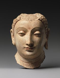 Head of Buddha [Afghanistan], about centuries, stucco with gesso traces of paint, now in the Metropolitan Museum, New York Buddha Sculpture, Art Sculpture, Buddha Art, Buddha Statues, Buddha Head, Angel Statues, Religion, Art Premier, Virtual Art