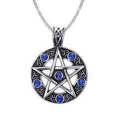 Pentagram Wiccan Gothic Pendant Necklace