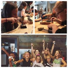 Yesterday, we had a fun Girl Scouts troop in the studio for a private workshop. They were naturals at metal stamping and each made their own customized necklace. Get in touch to talk about a private workshop for your group!