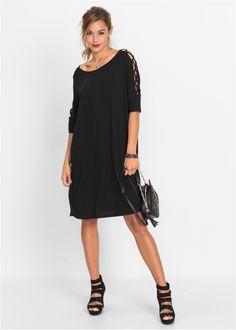 Kleid mit cut-outs schwarz jetzt im Online Shop von bonprix.de ab ? 32,99 bestellen. Und breitem Rundhalsausschnitt, 3/4 Fledermaus-Ärmeln. Länge in Gr. ...