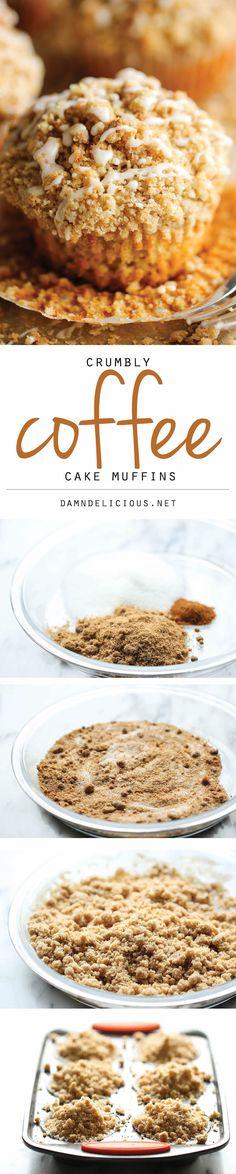 Coffee Cake Muffins - Damn Delicious Muffin Recipes, Baking Recipes, Cake Recipes, Breakfast Recipes, Dessert Recipes, Breakfast Time, Bread Recipes, Sweet Recipes, Delicious Desserts