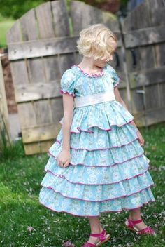 Items similar to The Handmaiden's Cottage Petticoat PDF Pattern, sizes 6 months through size 8 on Etsy Toddler Dress Patterns, Childrens Sewing Patterns, Clothing Patterns, Kids Clothing, Kids Outfits, Girls Dresses, Dress Sewing, Sewing Clothes, Infant Toddler