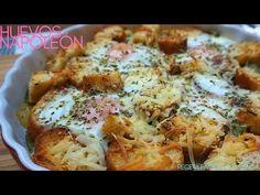 HUEVOS 🥚 NAPOLEÓN 🍳 (huevos al HORNO) receta fácil y rápida. - YouTube Mug Recipes, Flan, Cauliflower, Salads, Canning, Chicken, Vegetables, Friends, Gastronomia