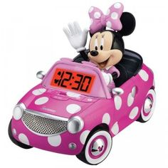 "Minnie Mouse Bow-tique Alarm Clock - eKids - Toys""R""Us. Minnie Mouse Car, Minnie Mouse Nursery, Disney Mickey Mouse, Disney Rooms, Kids Store, Toys R Us, Baby Car Seats, Cool Things To Buy, Alarm Clocks"