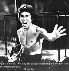 Empowering quotes from Bruce Lee : theCHIVE Defeated Quotes, Martial Arts Quotes, Bruce Lee Photos, Brandon Lee, Enter The Dragon, Martial Artists, Pictures Of The Week, Empowering Quotes, Taekwondo