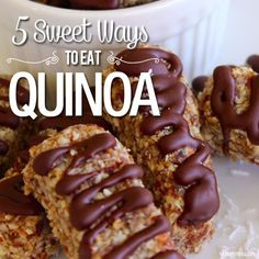 5 Sweet Ways to Eat Quinoa - We love the superfood Quinoa and its versatility. Discover just how sweet it is with 5 delicious dessert recipes. #quinoa #recipes #healthy