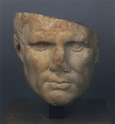 Marcus Vipsanius Agrippa, statesman and general, prominent citizen, life-long friend and son-in-law of Augustus, head of Roman sculpture (marble), 1st century BC, (Musée du Louvre, Paris).