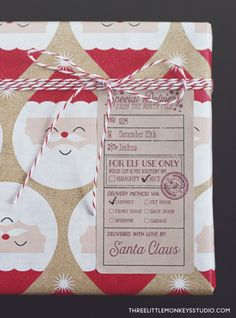 Free Download :: Santa's Special Deliver Christmas Labels and Tags by @3littlemonkeys