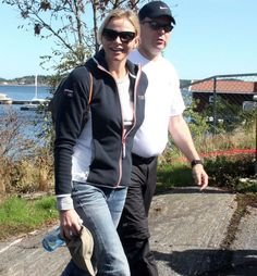 Prince Albert was joined by Princess Charlene at the holiday resort of Kragero in Norway