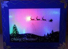 LED Backlit Pin-Hole Holiday Card