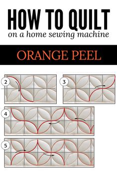 Year of Machine Quilting - The Quilting Company - The Orange Peel is a traditional quilting pattern that can add quite a bit of interest to any borde - Quilting Stitch Patterns, Machine Quilting Patterns, Easy Quilt Patterns, Quilt Stitching, Simple Quilt Pattern, Patchwork Quilting, Longarm Quilting, Top Stitching, Quilting Stencils