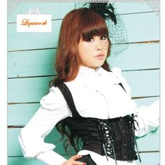 Black Stripe Gothic Lolita Fashion Clothing Button Down Corset Vest SKU-11401156