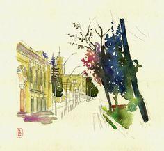 Sant Boi de Llobregat by SARABIA Urban, Art Sketches, Sketching, Illustration, Nature, Painting, Naturaleza, Scenery, Fotografia