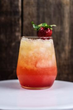 Learn how to make a strawberry screwdriver cocktail with fresh orange juice, strawberry simple syrup, and your favorite vodka!