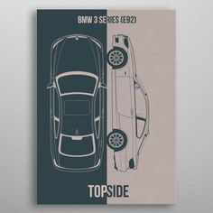 BMW 3 Series detailed, premium quality, magnet mounted prints on metal designed by talented artists. Our posters will make your wall come to life. Poster Prints, Posters, Bmw 3 Series, Good Company, Metal, Cars, Design, Autos, Poster