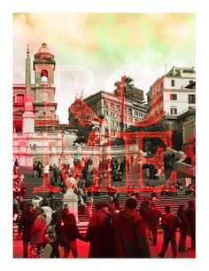 """""""Rome"""" from my project """"Alternative Snapshots of Our World"""" Our World, Graphic Design Typography, Rome, Times Square, Alternative, Illustration, Projects, Movie Posters, Painting"""