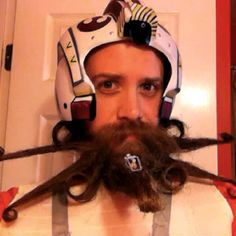 Beard in the Shape of a Star Wars X-Wing Fighter