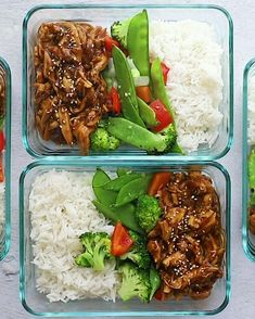 Crock Pot Teriyaki Chicken 2019 Meal prep the easiest crock pot teriyaki chicken with stir-fried veggies and white rice for a balanced healthy meal all week long. The post Crock Pot Teriyaki Chicken 2019 appeared first on Lunch Diy. Best Meal Prep, Simple Meal Prep, Meal Prep For Work, Meal Prep Guide, Meal Preparation, Work Meals, Veggie Fries, Veggie Stir Fry, Prepped Lunches