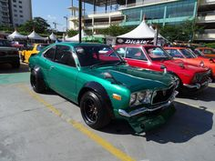 Thailand, RX3 Savannah in a Candy Green with those familiar huge bolt-on fender flares over deep RS Watanabes…