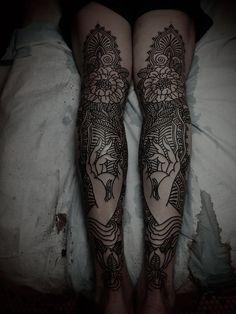 by guy le tatooer #leg #tattoos