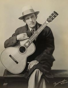 """Jimmie Rodgers [1897, Meridian, MS - 1933, New York City, NY] was an American country singer in the early 20th century, known most widely for his rhythmic yodeling. Among the first country music superstars and pioneers, Rodgers was also known as """"The Singing Brakeman"""", """"The Blue Yodeler"""", and """"The Father of Country Music""""."""