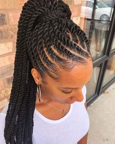 Box Braids Hairstyles, Easy Hairstyles For Medium Hair, Braided Hairstyles For Black Women, Protective Hairstyles, Female Hairstyles, Hairstyles 2018, Twist Hairstyles, Braids For Black Women Cornrows, Short Braids