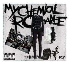 """My Chemical Romance welcome to the black parade"" by neverland-is-just-a-dream-away ❤ liked on Polyvore featuring J Brand"