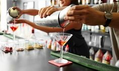Experienced instructors share the art of mixing drinks and properly tending bar in a fully operational bar facility