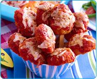 Free Healthy Recipe for Speedy Chicken Parm Pops from The Speedy Sneaky Chef: Quick, Healthy Fixes for Your Favorite Packaged Foods and Healthy Meals in a Hurry!