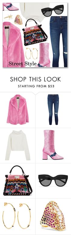 """""""Street Style"""" by dressedbyrose ❤ liked on Polyvore featuring J.Crew, J Brand, Haider Ackermann, MR by Man Repeller, Fendi, Le Specs, Noor Fares, Venyx and Daniela Villegas"""