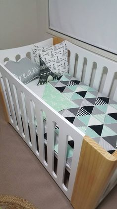 Cot Quilt / Baby Blanket by PepperGeorgeCo on Etsy