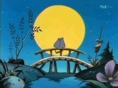 By the light of the moon Moomins