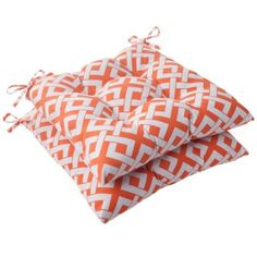 Beautiful Outdoor 2 Piece Square Seat Cushion Set   Fresco Solid | Orange, Seat  Cushions And As