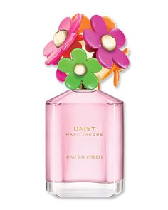 MARC JACOBS DAISY EAU SO FRESH SUNSHINE: It's the perfume counterpart to a glass of strawberry lemonade—minus the toothache. Notes of pink grapefruit and strawberry mingle with violet leaf and amber wood to evoke a warm, summery feeling ($78; marcjacobs.com).