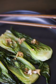"Steamed Soy Ginger Bok Choy - Click for Recipe. Substitute butter for zero calorie ""Butter"" spray."