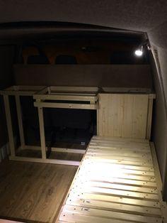 Toyota Hiace camper interior