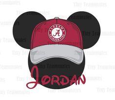 Mickey Inspired Alabama Crimson Tide Cap Head  by TinyTeammates, $5.00