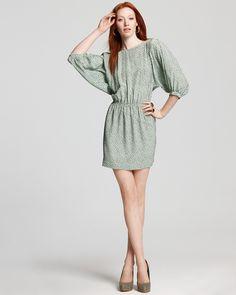 Pippa Dress - Ikat Spot Silk