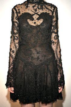 black unicorn dress, Marchesa 2009