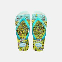 Havaianas - Wally The coolest Havaianas! Love it xx Flip Flop Sandals, Flip Flops, Wheres Wally, Cool Watches, Boy Fashion, Barefoot, True Love, Slip On, Cool Stuff