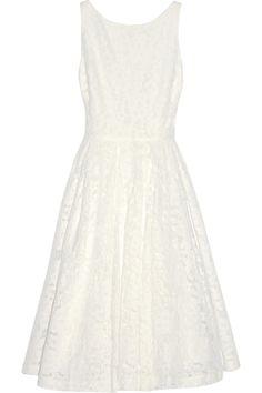 Alice + Olivia|Zack cotton-blend lace dress|NET-A-PORTER.COM