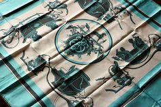 Hermes Paris Ex Libris 35 Square Silk Scarf with