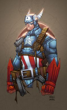 Cap. America by AlonsoEspinoza on deviantART