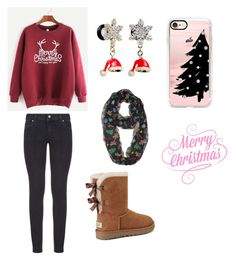 """Merry Christmas"" by jpchahal ❤ liked on Polyvore featuring Paige Denim, Casetify and UGG"