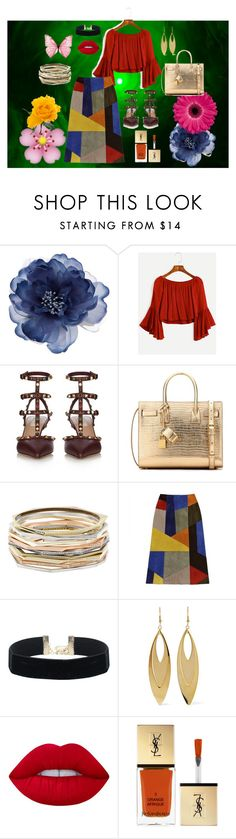 """""""Fall Lux"""" by xkaboq on Polyvore featuring Accessorize, Valentino, Yves Saint Laurent, Kendra Scott, Kenneth Jay Lane and Lime Crime"""