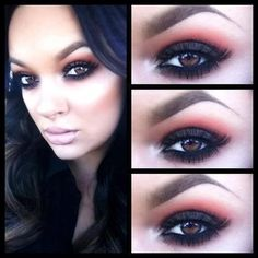 Black and brown smokey eye