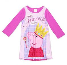 6568f5ce49 Peppa Pig Toddler Girls Long Sleeve Pajama Night Gown Size 2T 3T 4T
