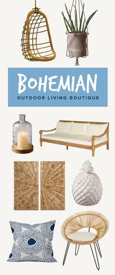 Bohemian Outdoor Living: Wake up your outdoor space to the laid-back spirit of the warm season. With a colorful mix of vibrant patterned pillows and whimsical hanging lanterns, create a setting where you can enjoy the fresh air from a gauzy hammock and refuel on the weekends.  Shop Now at dotandbo.com!
