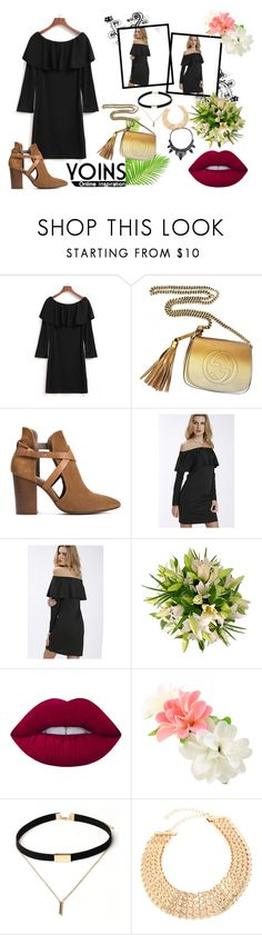 """""""Untitled #403"""" by anchesky ❤ liked on Polyvore featuring Gucci, H London, Lime Crime, yoins and loveyoins"""